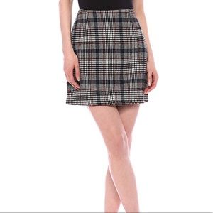 Minkpink Plaid New School Mini Skirt M NWT
